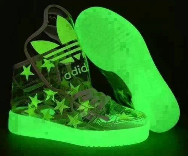 shoes adidas adidas shoes adidas shoes adidas shoes sneakers green glow in the dark glow in the dark alternative stars clear shoes clear transparent transparent shoes weed amazing fluo fluo fluorescent color adidas neon