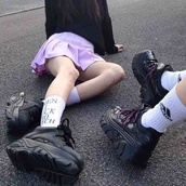shoes,sneakers,goth,cyber,grunge,tumblr,pale,black,vintage,platform shoes,pale grunge,black shoes,vintage shoes for her,retro