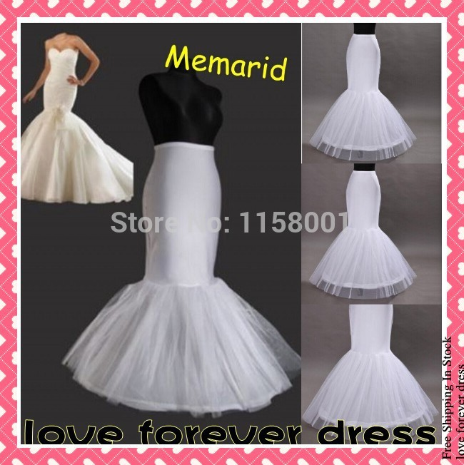 Aliexpress Buy 2015 Free Shipping In Stock Mermaid Wedding Petticoat Underskirt Bridal Crinoline Slip For