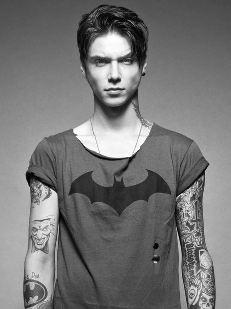 t-shirt bvb batman andy biersack tshirt. mens t-shirt