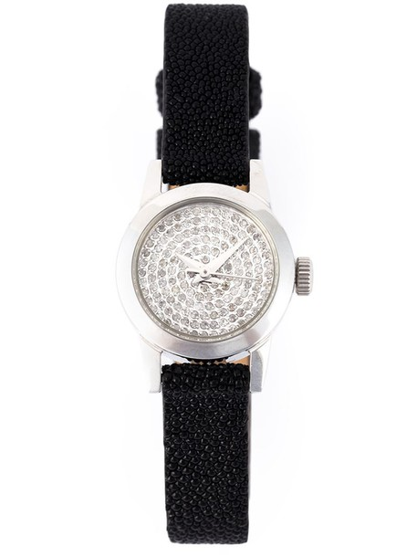 Christian Koban - 'Cute' analog watch - women - Diamond/Leather/stainless steel - One Size, Black