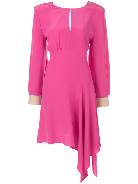 Fendi dress women plastic silk purple pink