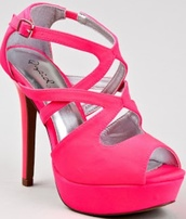 shoes,pink,neon,high heels,pumps,heels,peep toe pumps