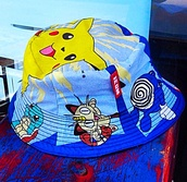 hat,bucket hat,pokemon,fashion,swag,style