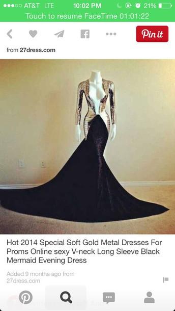 dress black long sleeve mermaid dress