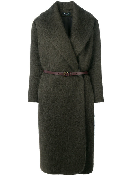 coat women mohair wool grey
