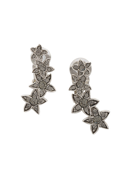 oscar de la renta crystal earrings women earrings grey jewels