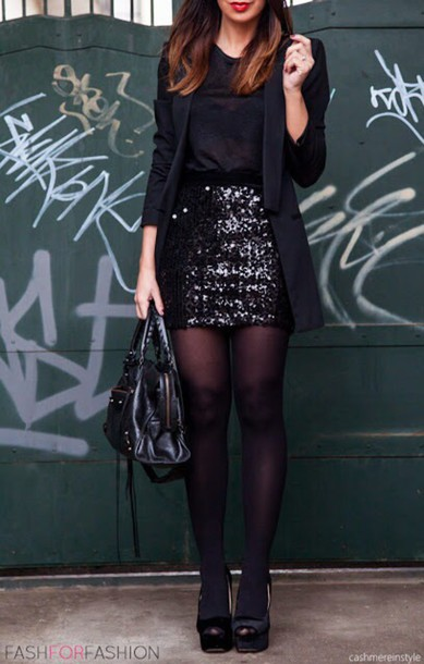 jacket spakley glitter skirt new years eve outfit