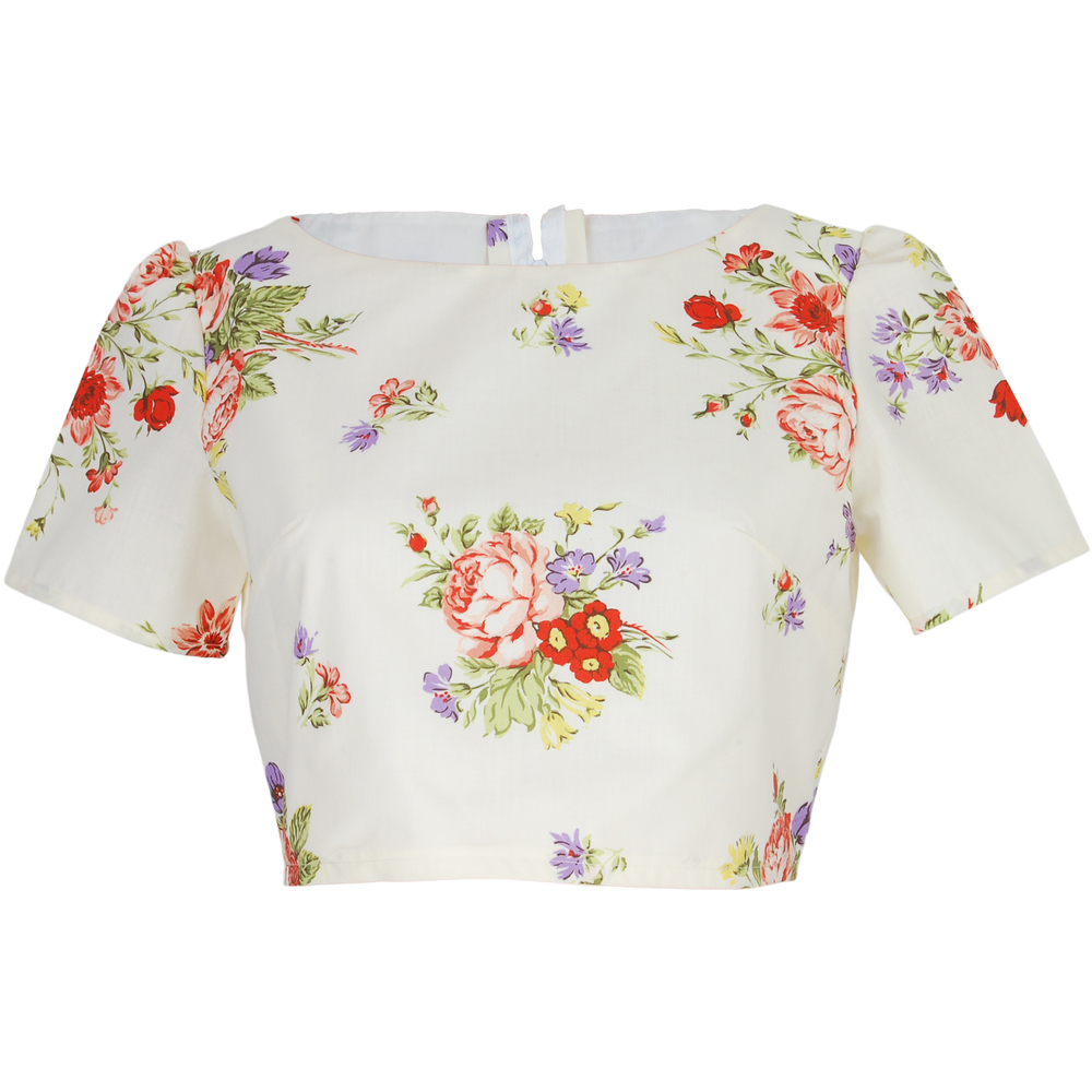 Cream Floral Crop Top Style Icon S Closet