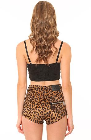 UNIF Shorts High Waist Zip Leopard -  Karmaloop.com