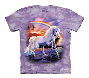 Rainbow Unicorn The Mountain Printed T-Shirts