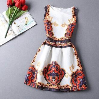 dress classy fashion style trendy feminine elegant white pattern boogzel