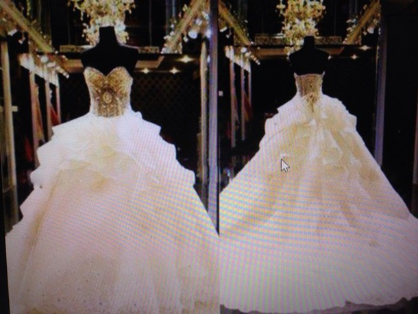 Wedding Dresses White And Gold