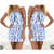 Print Cut Out Halter Playsuit