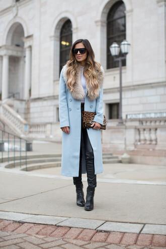 maria vizuete mia mia mine blogger coat top pants shoes bag sunglasses