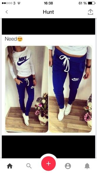 pants blue pants nike blue