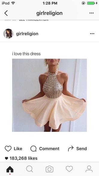dress gold halter top dress