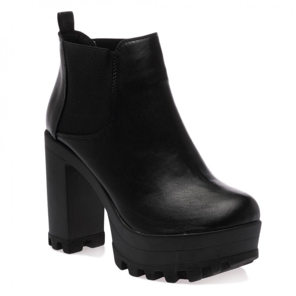 Ankle Black Boots - Cr Boot