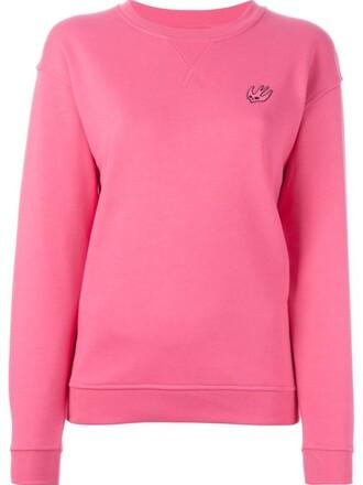 sweatshirt purple pink sweater