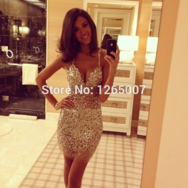 Aliexpress.com : Buy Sweetheart Spaghetti Traps Shiny Beaded Crystal Rhineston Sparkly Mini Short Glitter Party Dresses Gowns Special Occasion from Reliable dress tutus suppliers on SFBridal