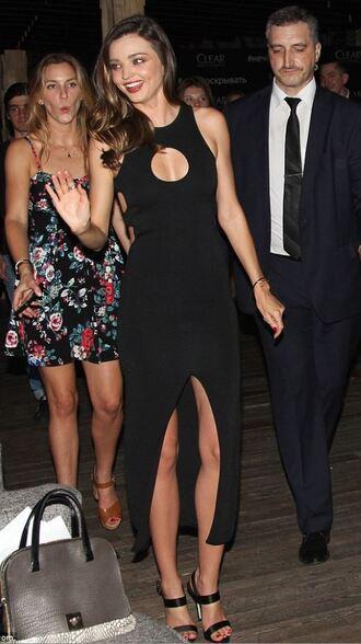 dress slit dress slit miranda kerr sandals all black everything prom dress