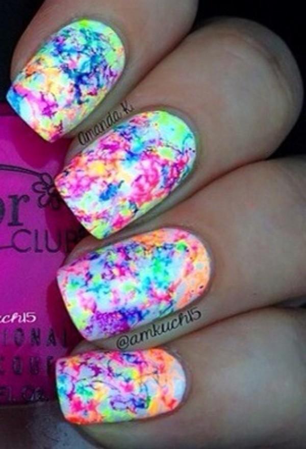 nail polish - Tie Dye Your Nails! (water Marbling) ♡ Theeasydiy #Nailart - YouTube