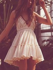 dress,100 degree dress,free people,cute,sexy,cute dress,sportswear,bikini,hot dress,beach dress,sexy dress,lingerie,luxury beach dress,2016 bridesmaid dresses,summer dress,sexy  beach dress,white boho dress,white,short dress,boho,boho chic,v neck,flowy,girly,cream