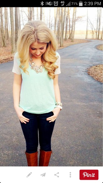 top mint green top tiffany blue
