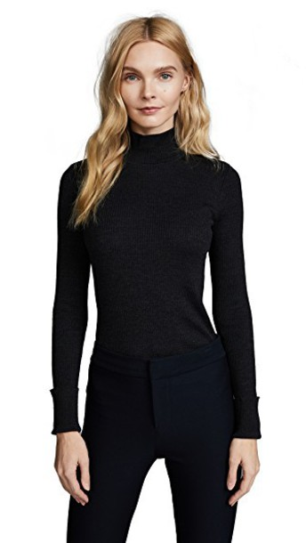 theory sweater basic charcoal