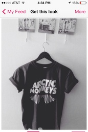 shirt,t-shirt,arctic monkeys,band t-shirt