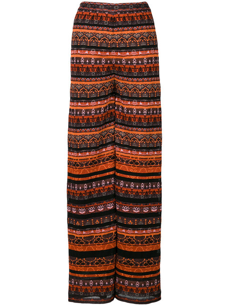 M Missoni - knit wide leg trousers - women - Cotton/Polyamide/Polyester/Metallic Fibre - 40, Cotton/Polyamide/Polyester/Metallic Fibre