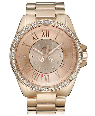 Juicy Couture Watch Womens Stella Rose Gold Tone Stainless Steel