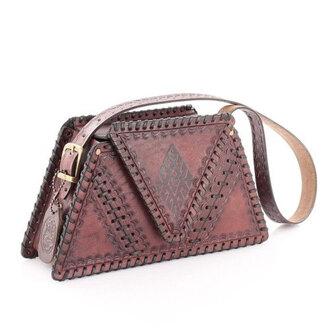 bag messenger bag leather cosmetic bag wintage handbag saddle bag women's accessories