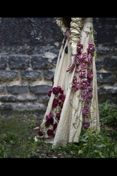 floral fantasy renaissance dress hot flower crown flower, pink, cute, girly renaissance