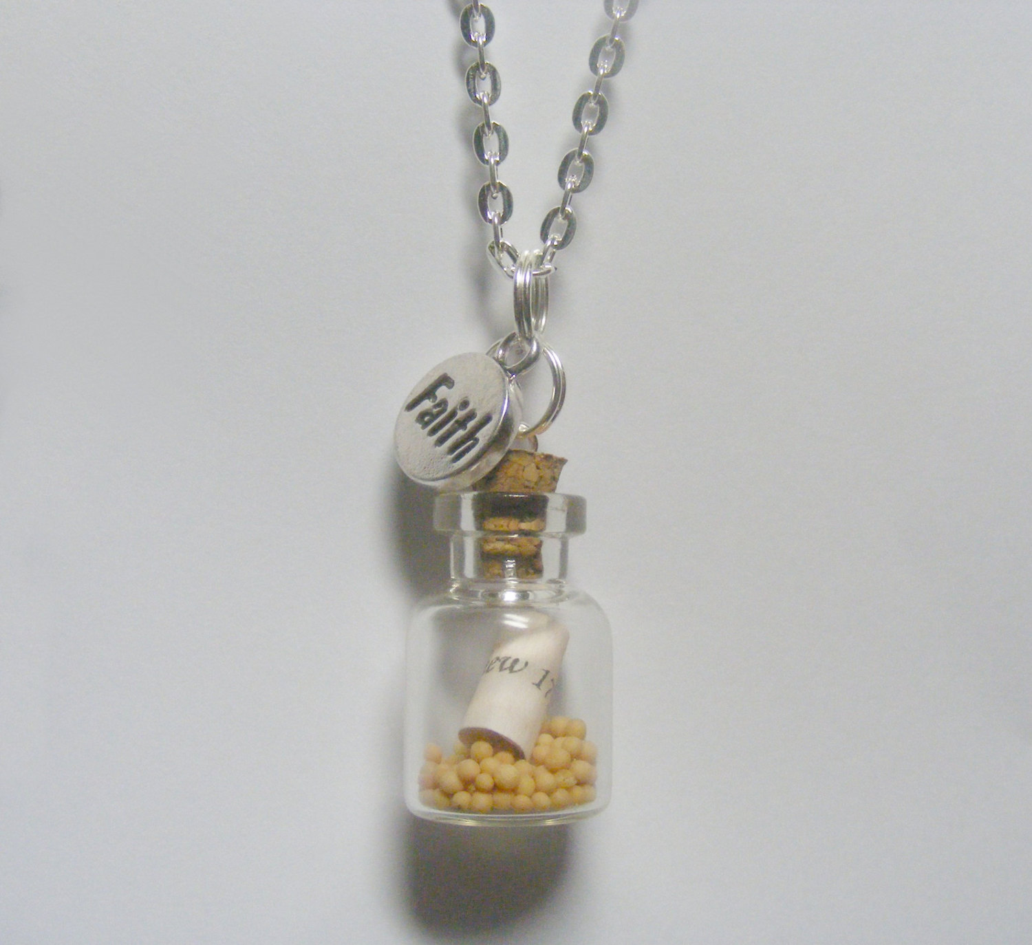 Mustard seed miniature bottle necklace miniature food jewelry faith mustard seed miniature bottle necklace miniature food jewelrymustard seed pendantchristian jewelryfaith pendantchristian necklace aloadofball Image collections