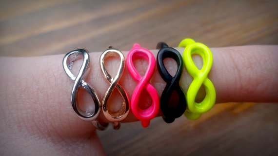 New  infinity rings  5 colors by ebeandash on etsy