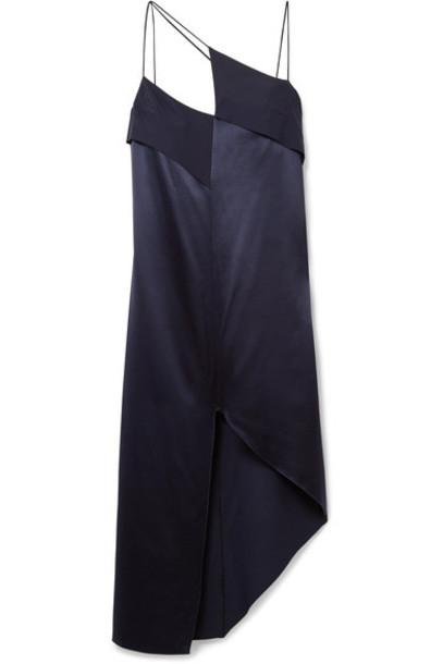 Dion Lee dress midi dress midi blue silk satin