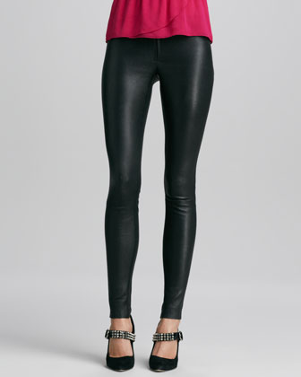 Alice   Olivia Leather Leggings - Bergdorf Goodman