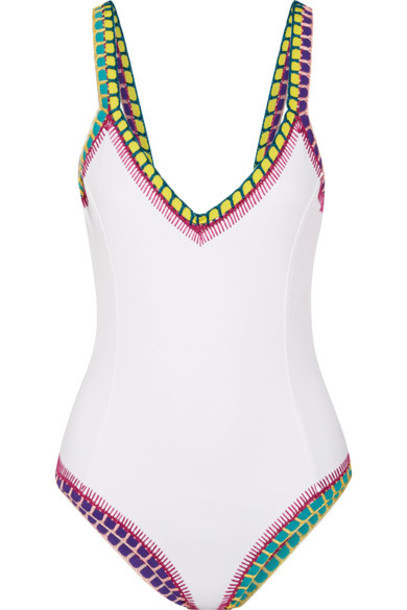 white crochet swimwear