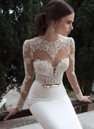 dress white prom lace wedding dresses wedding clothes long white dress vintage wedding dress prom dress lace dress