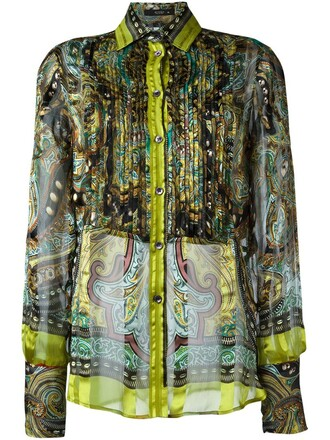 shirt sheer shirt sheer ruffle women silk yellow top
