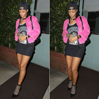 top rihanna jacket pink