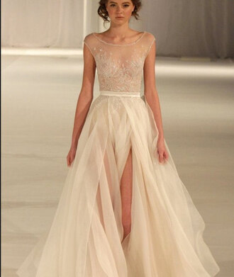 dress sheer dress runway gown bridal bridal gown paolo sebastian couture