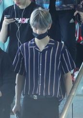 top,bae jinyoung,stripes,menswear,mens t-shirt