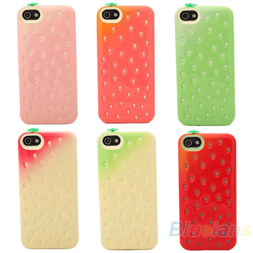 CUTE SCREEN PROTECTOR STRAWBERRY PHONE CASE COVER SKIN FOR IPHONE4 4S 5 5G B82K | eBay