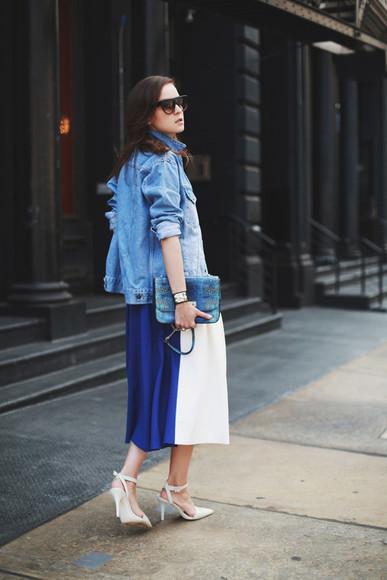 jewels style scrapbook blogger skirt shoes bag sunglasses jacket