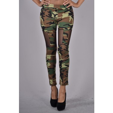 Mesh Camouflage Leggings