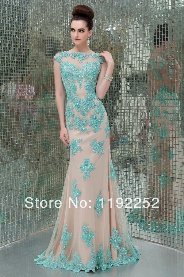 55dba179012 Aliexpress.com   Buy New 2014 custom made modern mermaid plus size green  cheap elegant evening dress ...