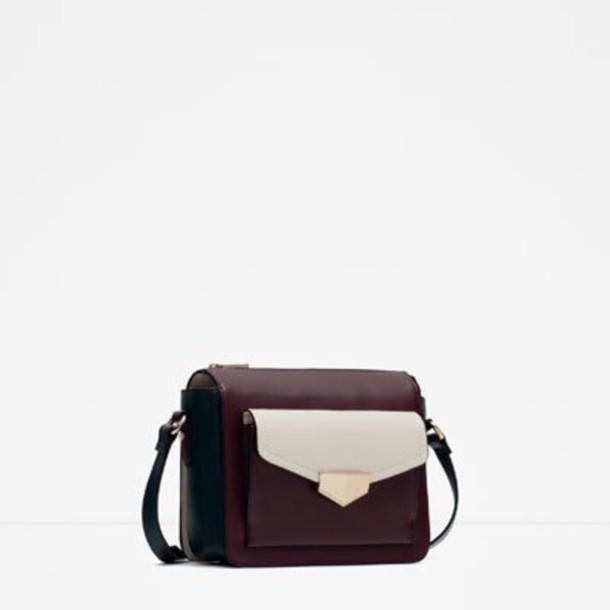 bag shoulder bag bordeaux red wine