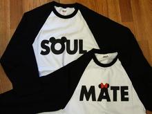 Soulmate baseball tees (black) sold in pair